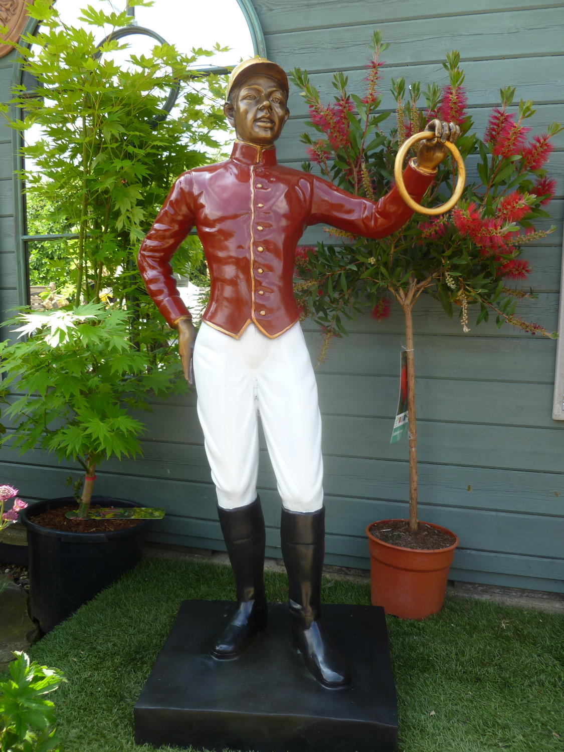 Bronze Jockey tethering post