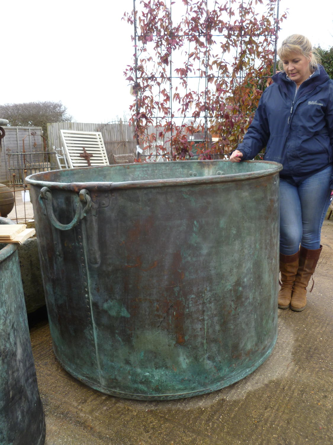 VERY LARGE COPPER / COOPER POT