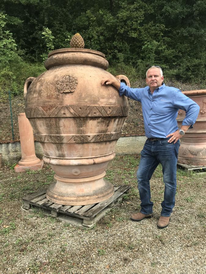 Orcio Imprunetino 210 cm - Tuscan terracotta