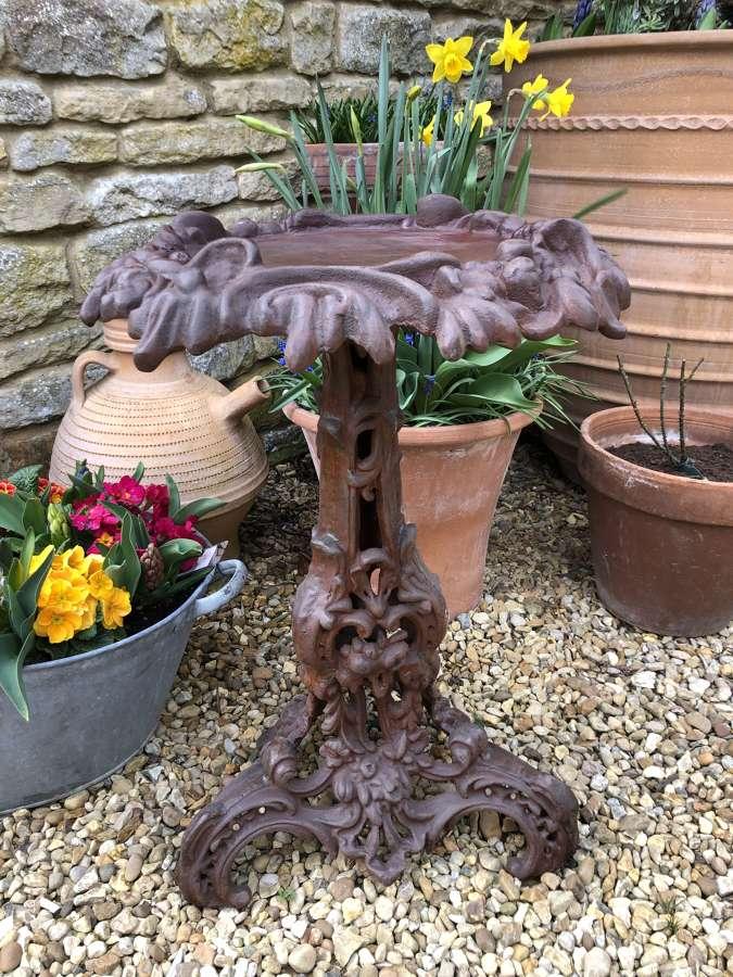 Cast iron side table/ bird table