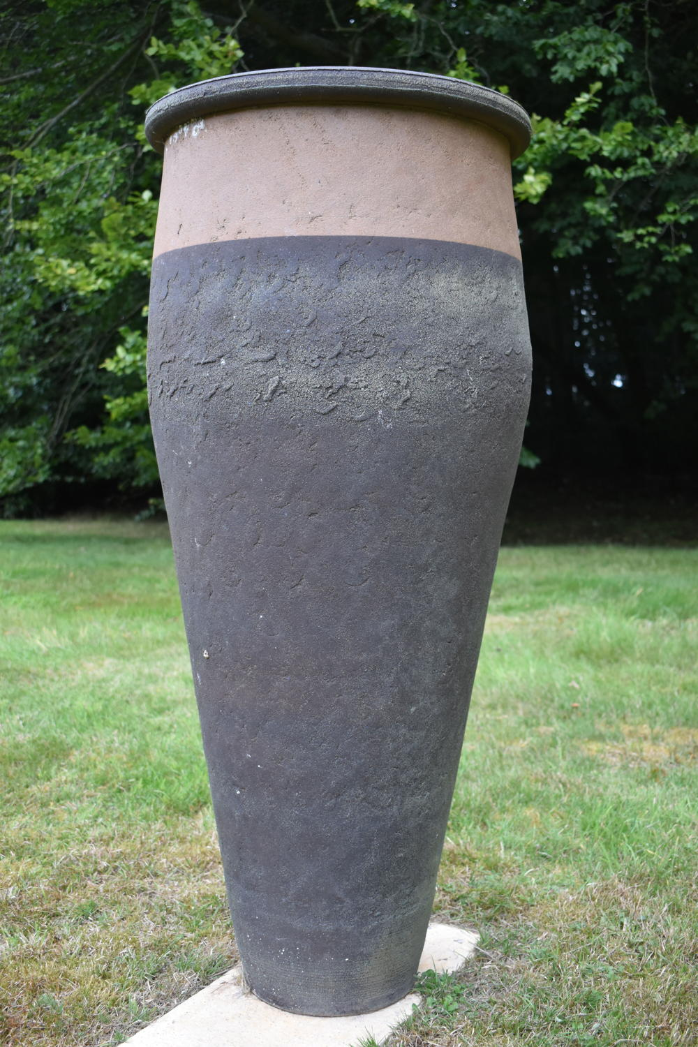 Ellipse ceramic pot by Philip Simmonds 120 cm