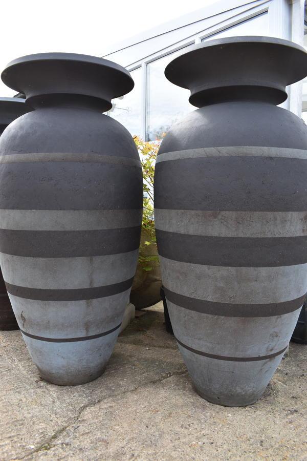 Pair of Enigma pots by Philip Simmonds 128 cm