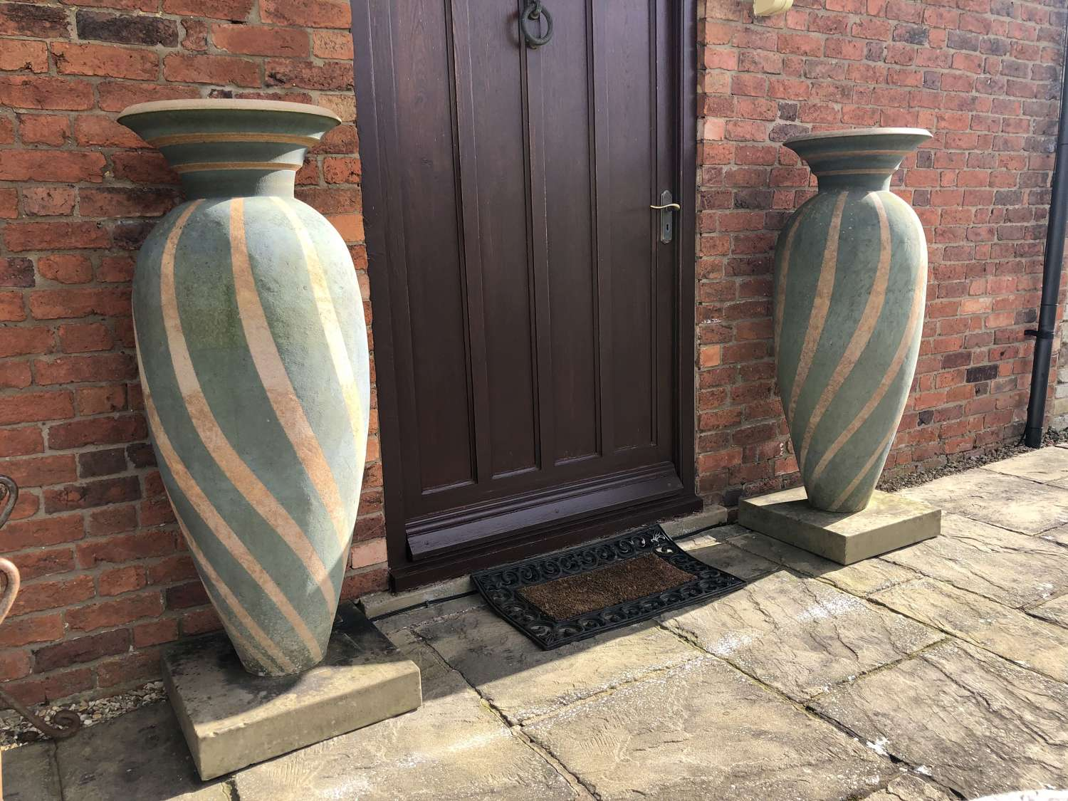 Pair of Philip Simmonds pots -