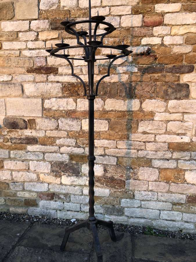 Large wrought iron candelabra 180 cm