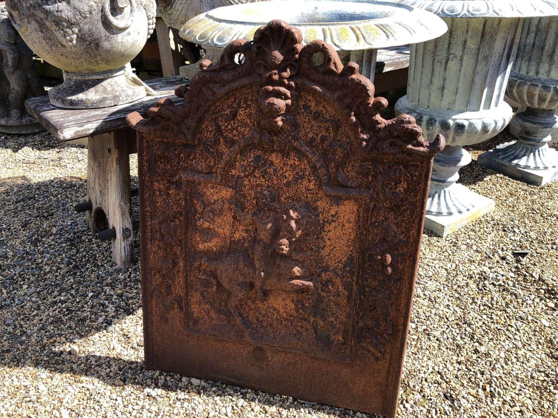 Cast iron fire back 72 cm