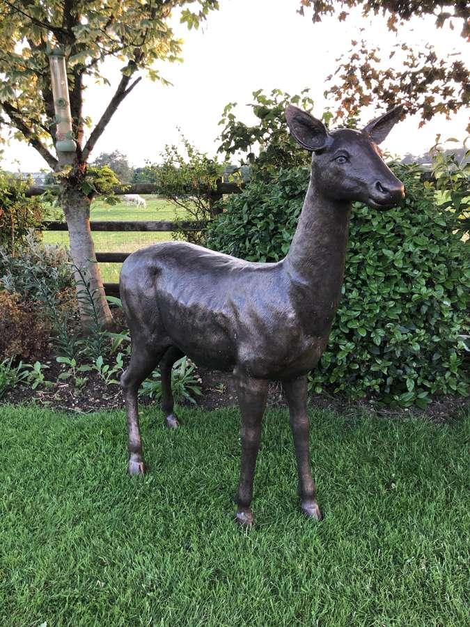 Bronze deer sculpture - bronze deer statue