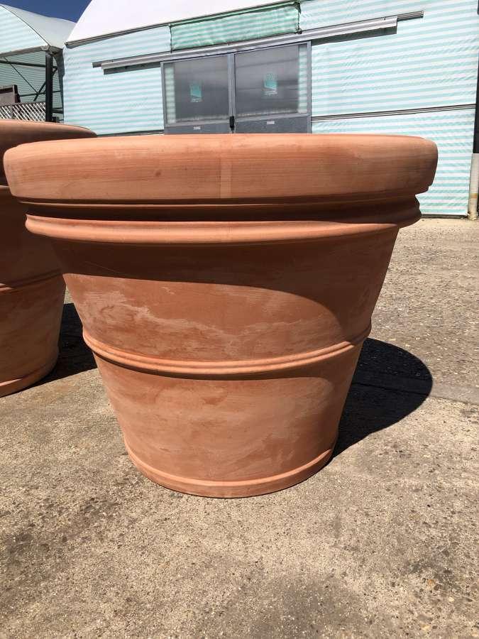 Large Tuscan terracotta pots 90 cm dia - Terracotta pots