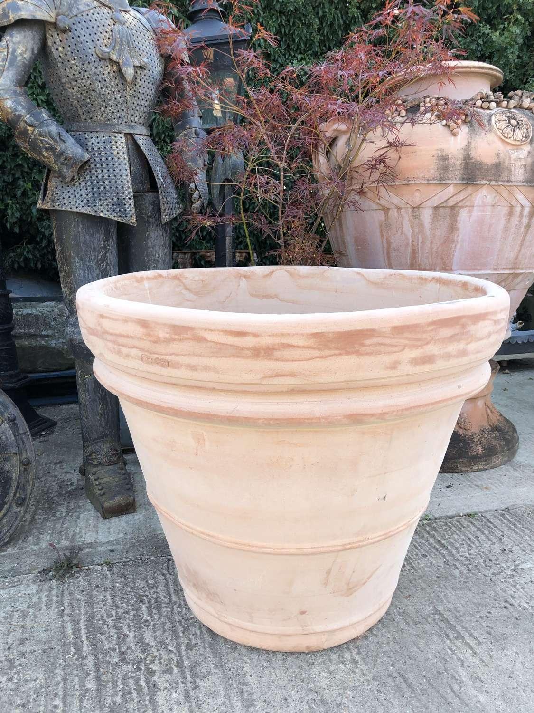 Large terracotta pots - Tuscan terracotta pots 90 cm dia x 73 cm tall
