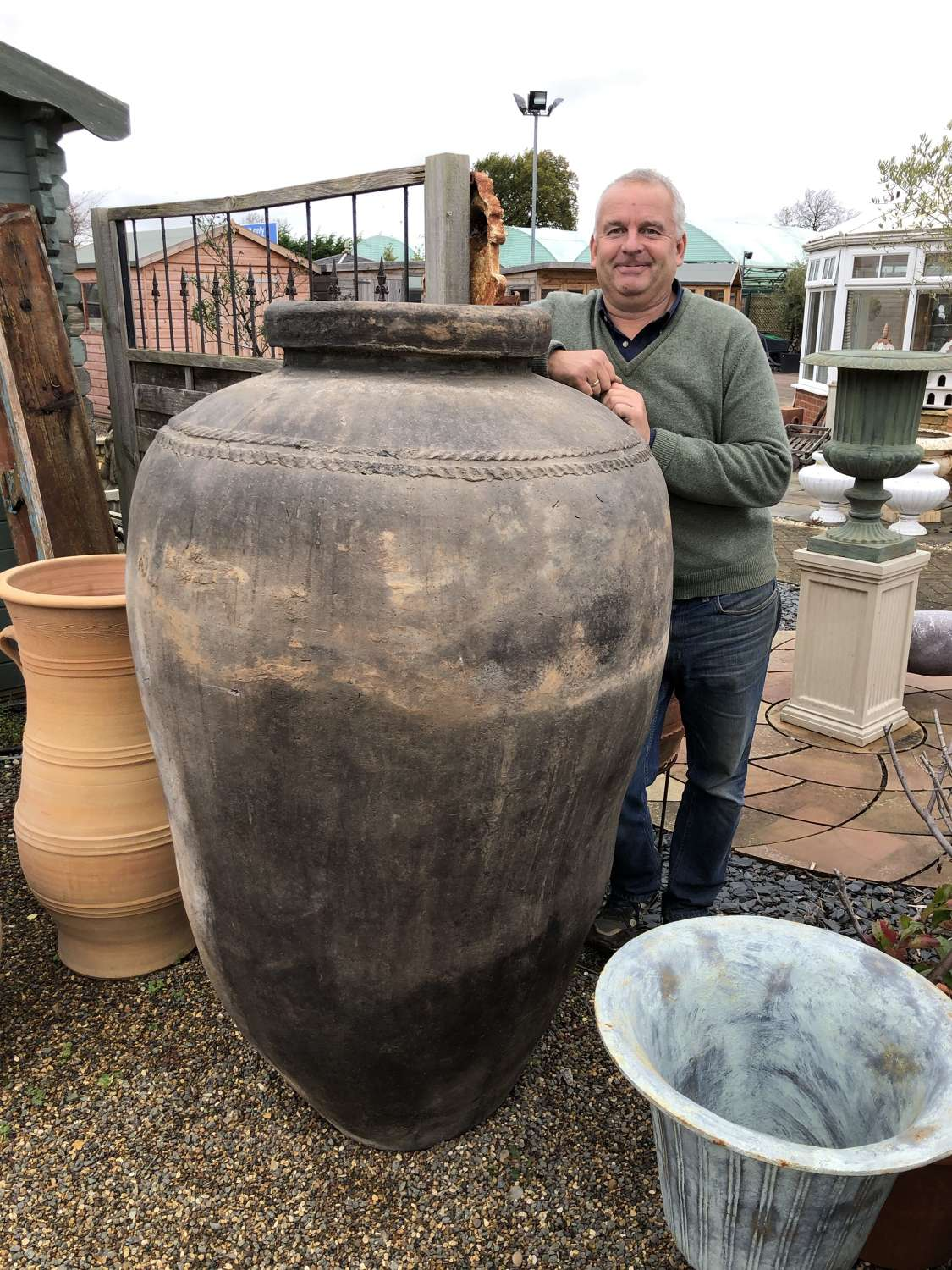 Ex large Indian clay pots - clay storage jars 155 cm