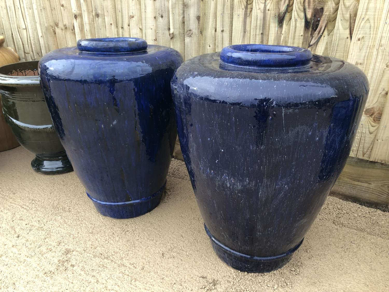 Large Glazed Tapered Pot - Glazed Olive Jars - Ali ba ba pots
