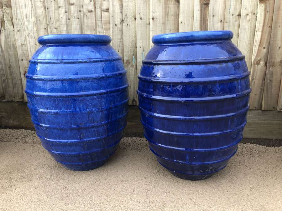 Glazed Horizontal Ribbed Jar - Beehive Ceramic Jars