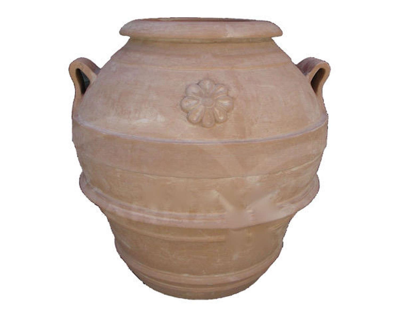 Terracotta Tuscan Jar - Terracotta Olive jar 90 cm tall.