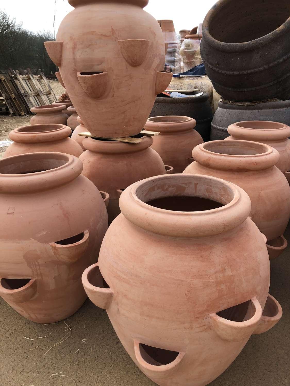 Terracotta Strawberry Pots - Terracotta Herb Pots 70 cm tall