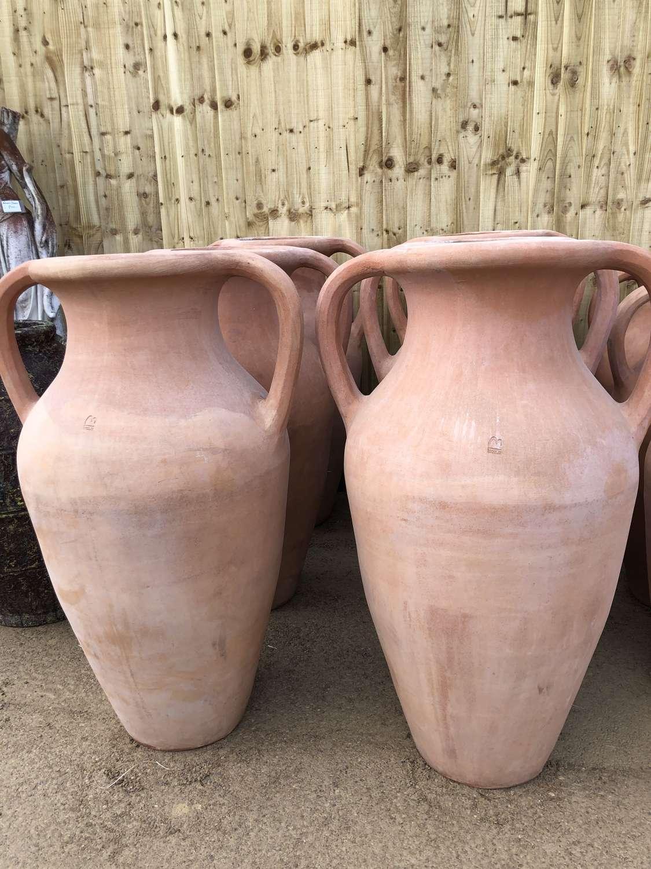 Terracotta water Jars - Terracotta Amphora 120 cm tall