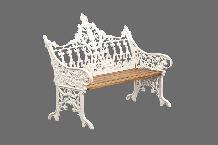 Victorian Style Cast Iron Bench - Gothic Style cast Iron Bench