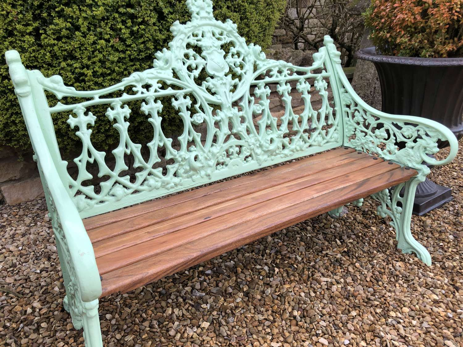 Victorian Style Cast Iron Bench - Gothic Style Cast Bench