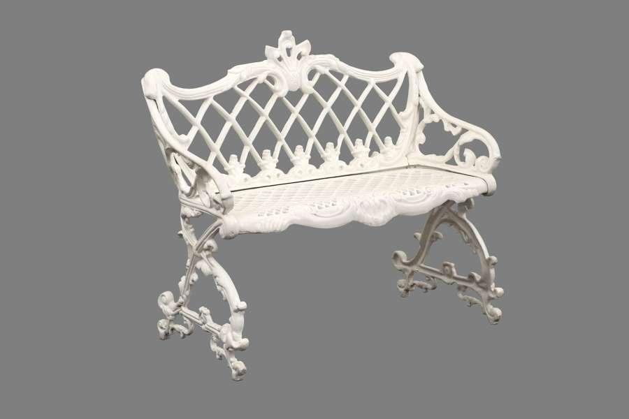 Cast iron Garden Bench - Ornate Metal Garden Bench