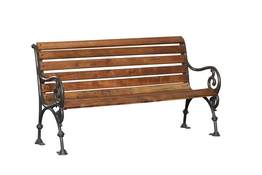 Cast Iron & Hardwood Garden Bench