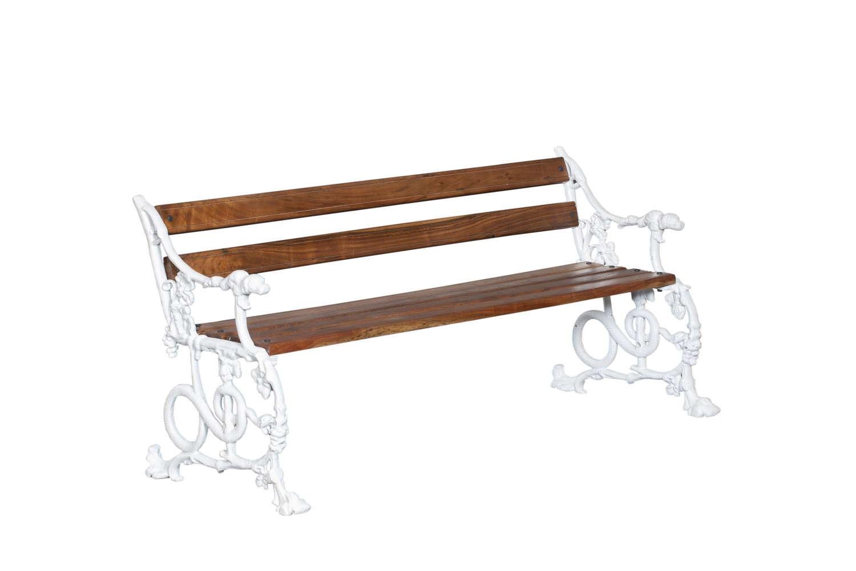 Victorian Style (Coalbrookdale) Dog & Serpentine bench.