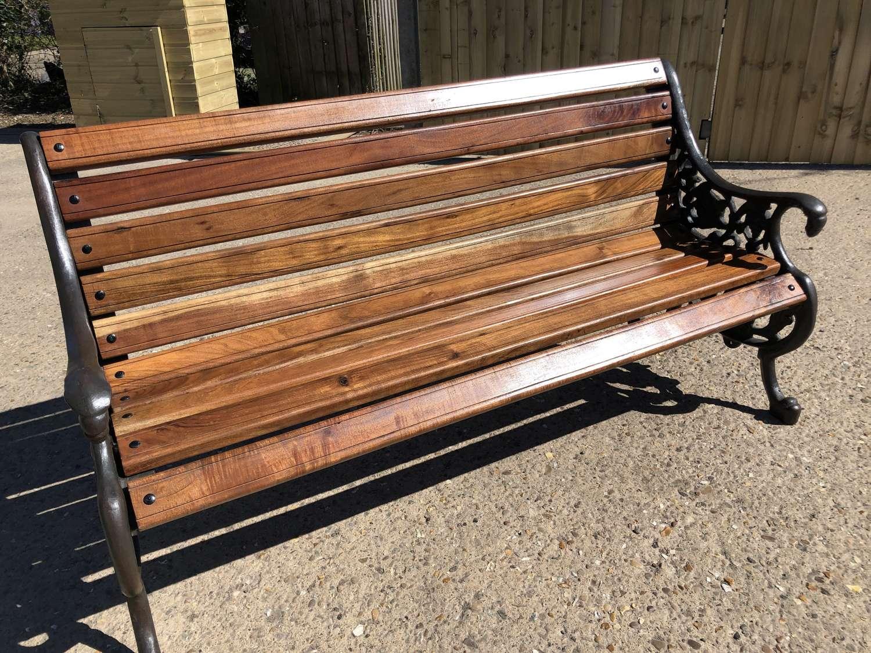 Cast Iron Victorian Style Heavy Garden Bench