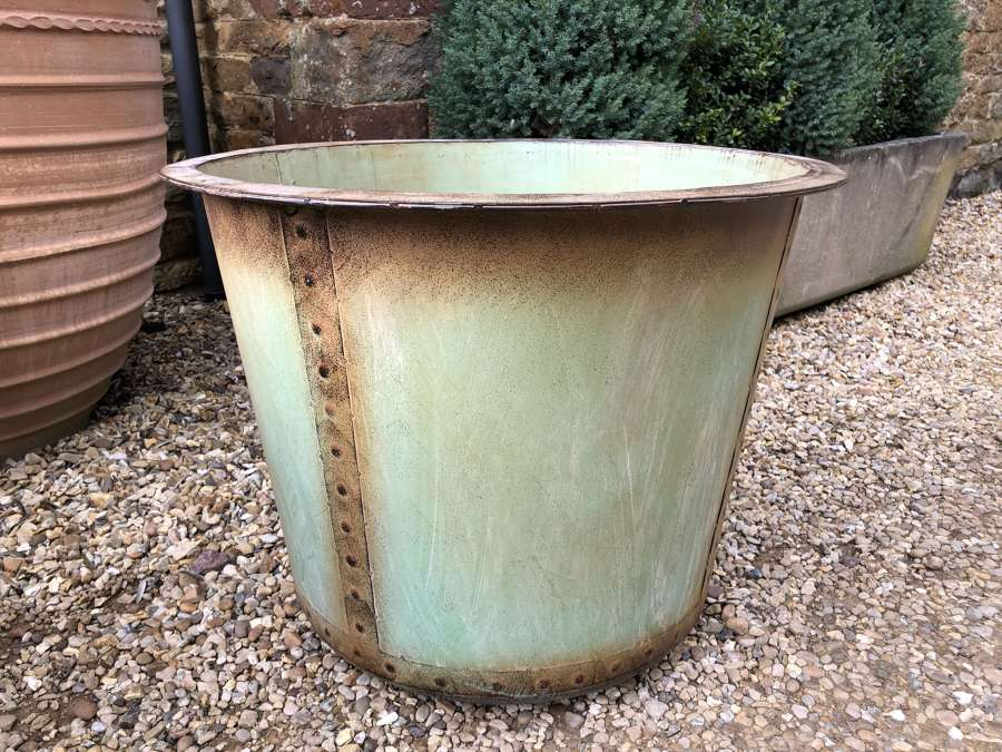 Antique Look Copper Copper - Copper look Planters 72 cm dia Green