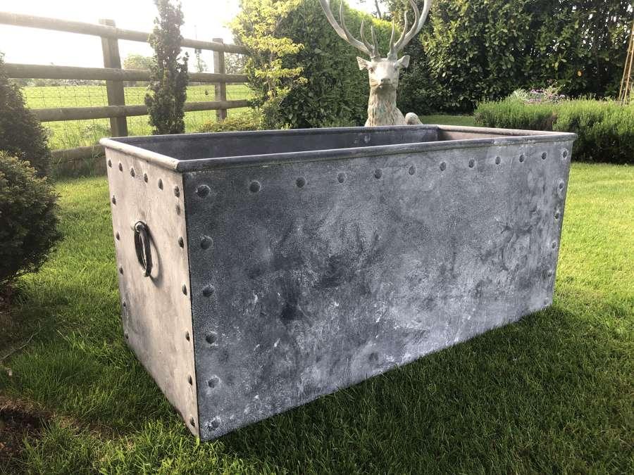 Galvanised Riveted Trough - Galvanised Cattle Trough - 120 cm