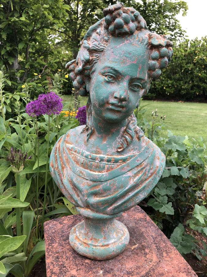 Cast Iron Bust of a Girl