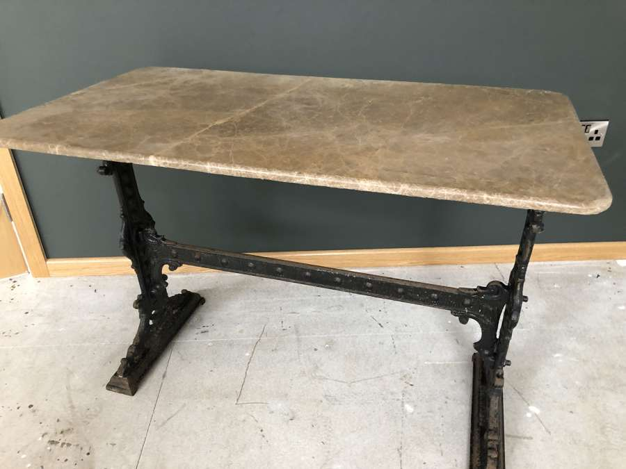 Cast Iron & Marble Table - Conservatory, garden table