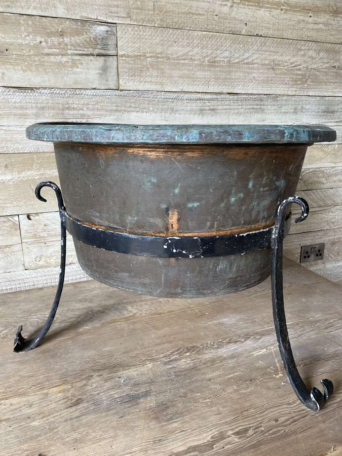 Copper in Wrought Iron Stand