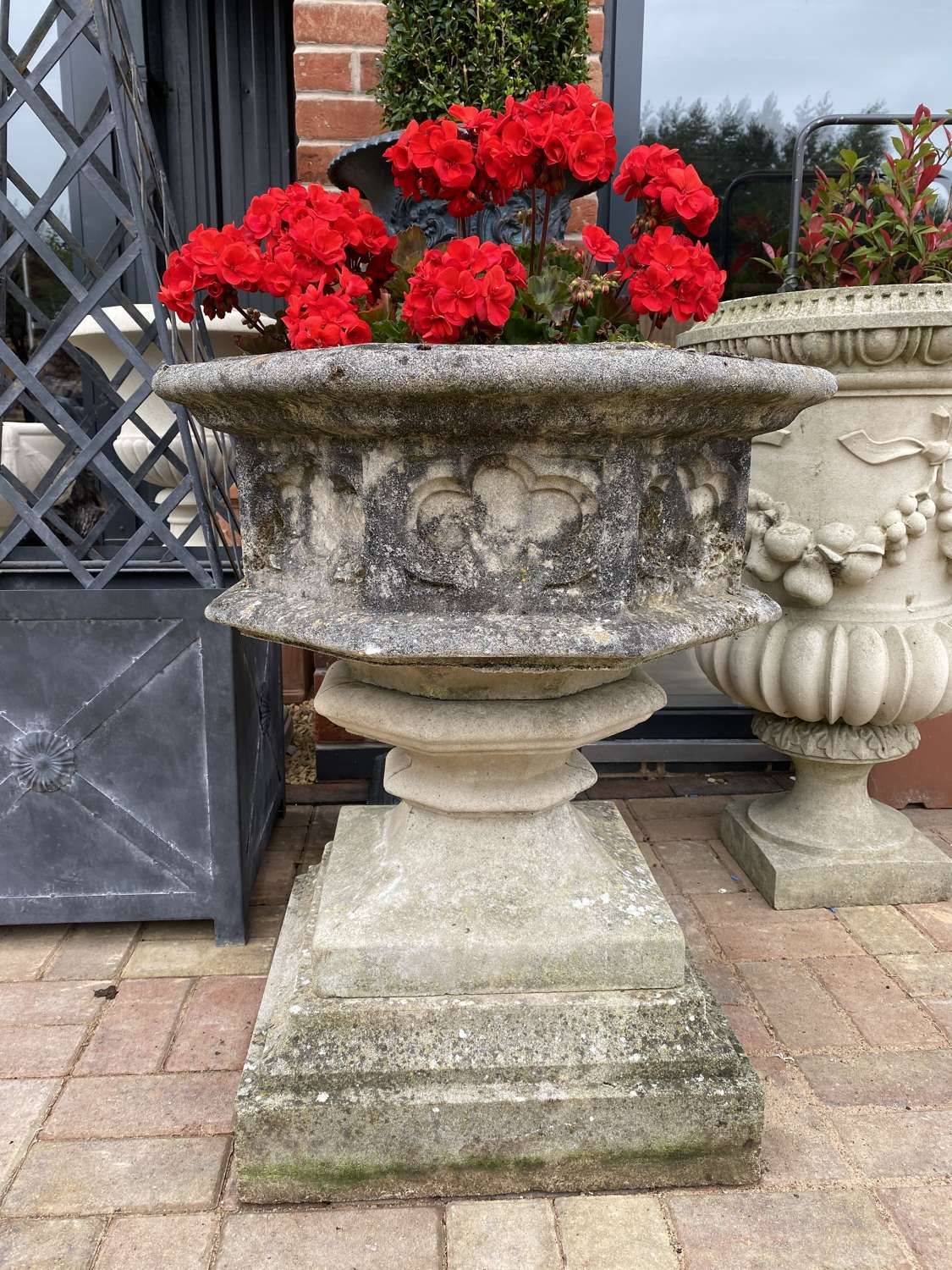 Gothic Urn and Base by Haddonstone