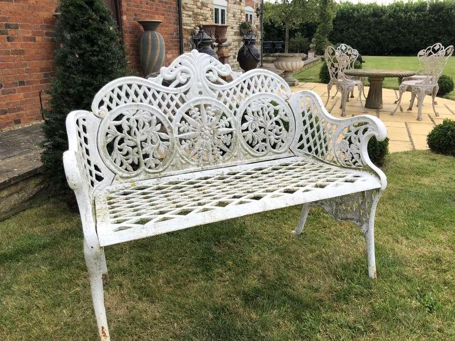 Cast Iron Garden Bench 110 cm